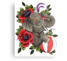 Circus Elephant Metal Print