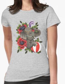 Circus Elephant Womens Fitted T-Shirt