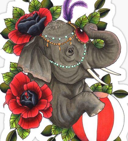 Circus Elephant Sticker
