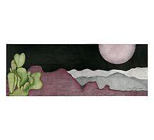 Cactus Moon Photographic Print