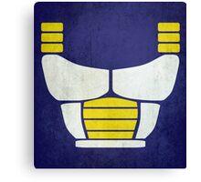 Minimalist Saiyan armor (v2) Canvas Print