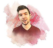 jacksepticeye watercolor splash Photographic Print