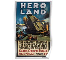 Hero land The greatest spectacle the world has ever seen for the greatest need the world has ever known 002 Poster