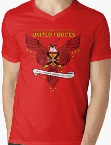 United Forces Insignia Mens V-Neck T-Shirt