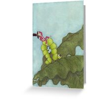 Caterpiller Travel. part 2 Greeting Card