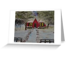 """Christmas House""  by Carter L. Shepard Greeting Card"