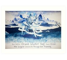 Wall mural for martial arts gym Art Print