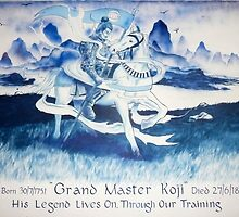 Wall mural for martial arts gym by imajica