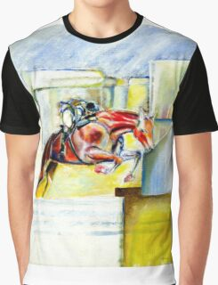 The equestrian- painting of horse and rider Graphic T-Shirt
