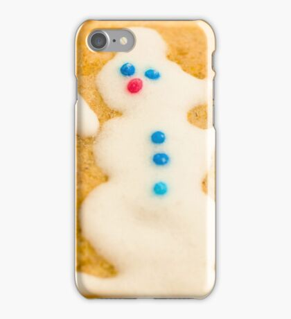 Christmas Cookie with Snowman Decoration iPhone Case/Skin