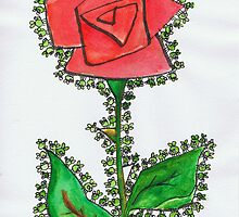 Greenfly on a Flower by Kerina Strevens