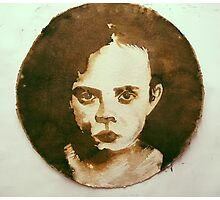 girl brown...wash out Photographic Print