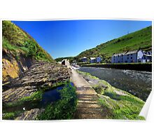 The River Valency at Boscastle Poster