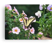 Yellow Visitor Canvas Print