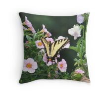 Yellow Visitor Throw Pillow