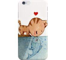 cat fish love  iPhone Case/Skin