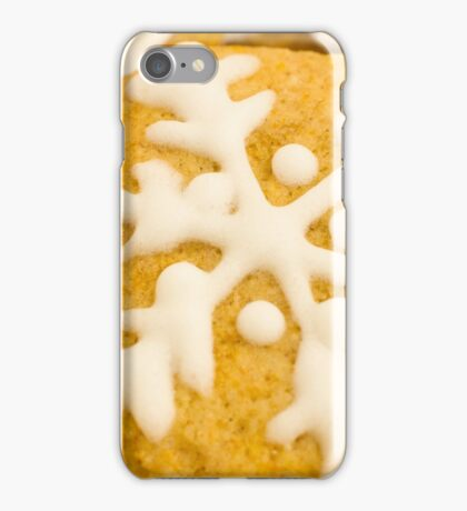 Christmas Cookie with Snowflake Decoration iPhone Case/Skin