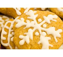 Christmas Cookie with Snowflake Decoration Photographic Print