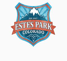Estes Park Colorado teal grunge shield Womens Fitted T-Shirt