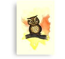 Cute owl. Canvas Print