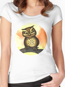 Cute owl. Women's Fitted Scoop T-Shirt