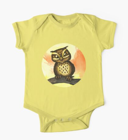 Cute owl. One Piece - Short Sleeve