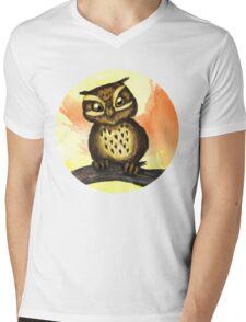 Cute owl. Mens V-Neck T-Shirt