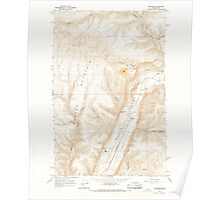 USGS Topo Map Washington State WA Palisades 243065 1966 24000 Poster