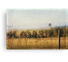 Foggy Hunter Valley fence Canvas Print