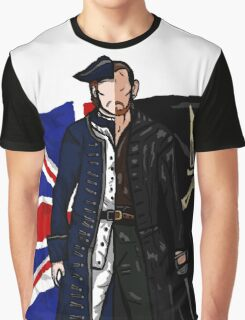Lietenant McGraw and Captain Flint - Black Sails Graphic T-Shirt