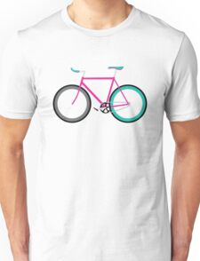 Simple Bike ~ Fixie Magenta Teal Unisex T-Shirt
