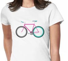 Simple Bike ~ Fixie Magenta Teal Womens Fitted T-Shirt