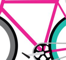 Simple Bike ~ Fixie Magenta Teal Sticker