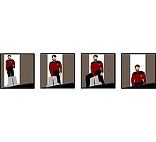 The Riker Maneuver (Sitting In Chair) Photographic Print