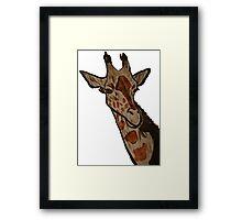 """Giraffe""  by Carter L. Shepard Framed Print"