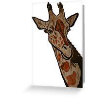 """Giraffe""  by Carter L. Shepard Greeting Card"
