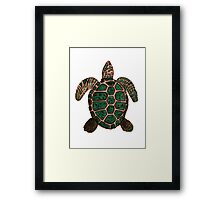 """Turtle""  by Carter L. Shepard Framed Print"