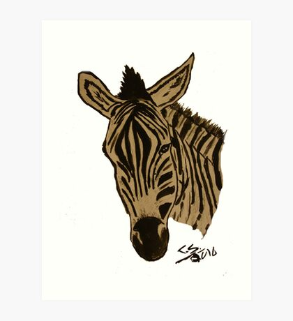 """Zebra""  by Carter L. Shepard Art Print"