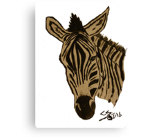 """Zebra""  by Carter L. Shepard Canvas Print"