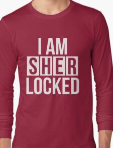 Sherlocked - white text Long Sleeve T-Shirt