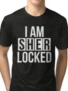 Sherlocked - white text Tri-blend T-Shirt