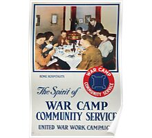 The spirit of war camp community service United War Work Campaign Poster