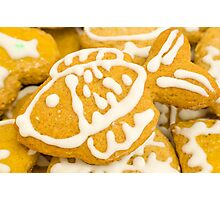 Christmas Cookie with Fish Decoration Photographic Print