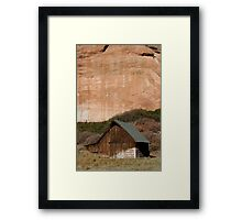 Old Barn in the Desert #1 Framed Print