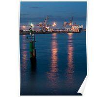 Fremantle Harbour, Western Australia Poster