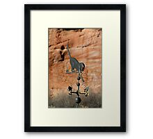 Cat and a Weathervane Framed Print