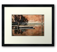 Reflecting Picnic Table Framed Print