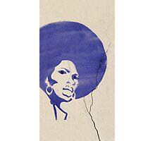 Purple Afro Photographic Print