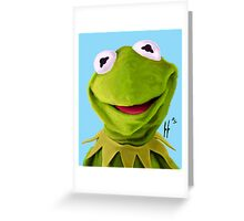 Mr. the Frog Greeting Card