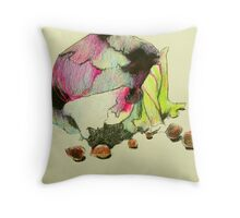 red cabbage and hazelnuts Throw Pillow
